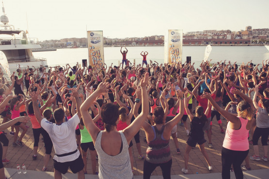 port tarraco sunset festival ZUMBA